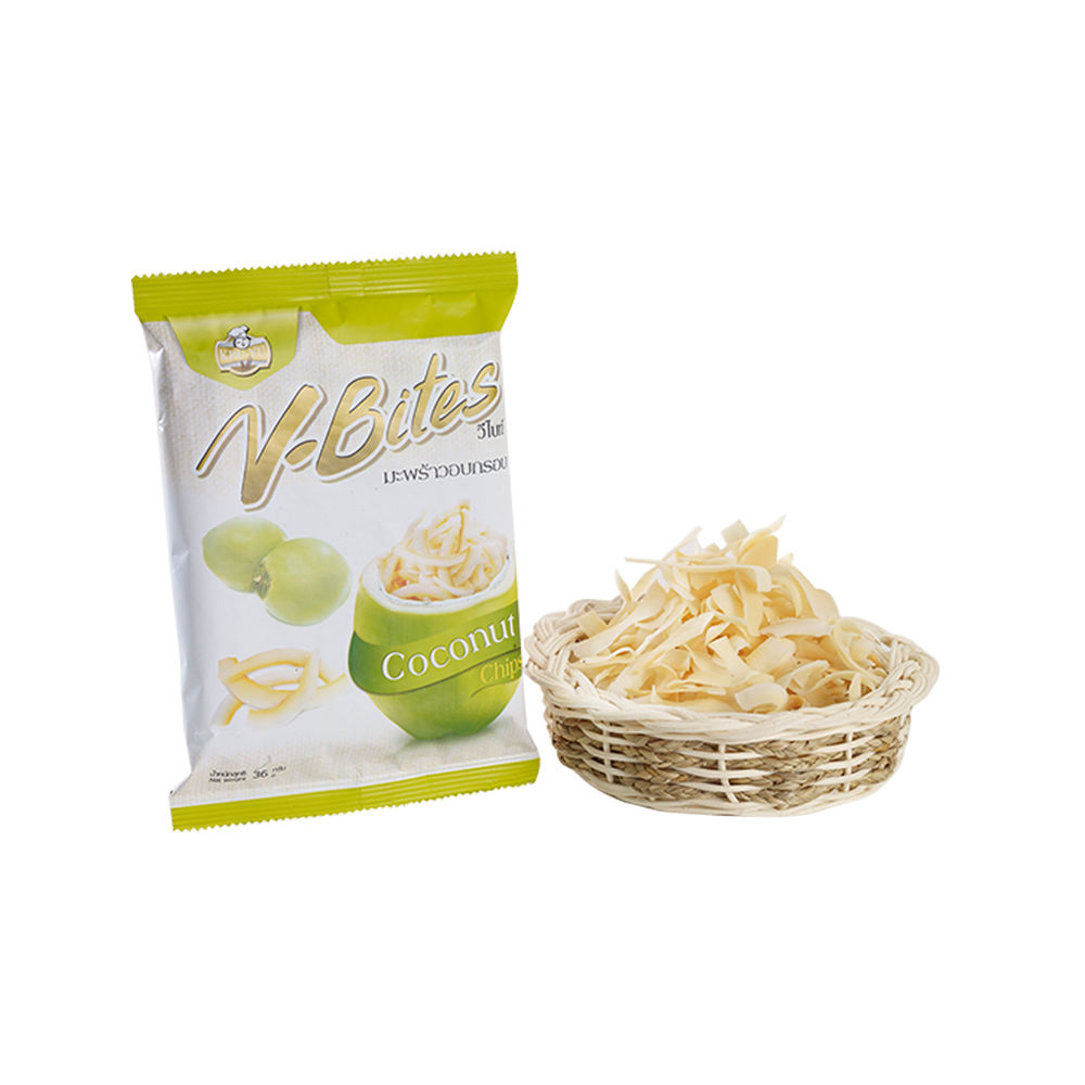 Factory Supply V-Bites Natural Ingredients Snack Organic Coconut Chips for Everyone