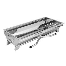 The New Outdoor Stainless Steel Barbecue Grill Portable Folding Barbecue Grill Multi-function BBQ Carbon Oven