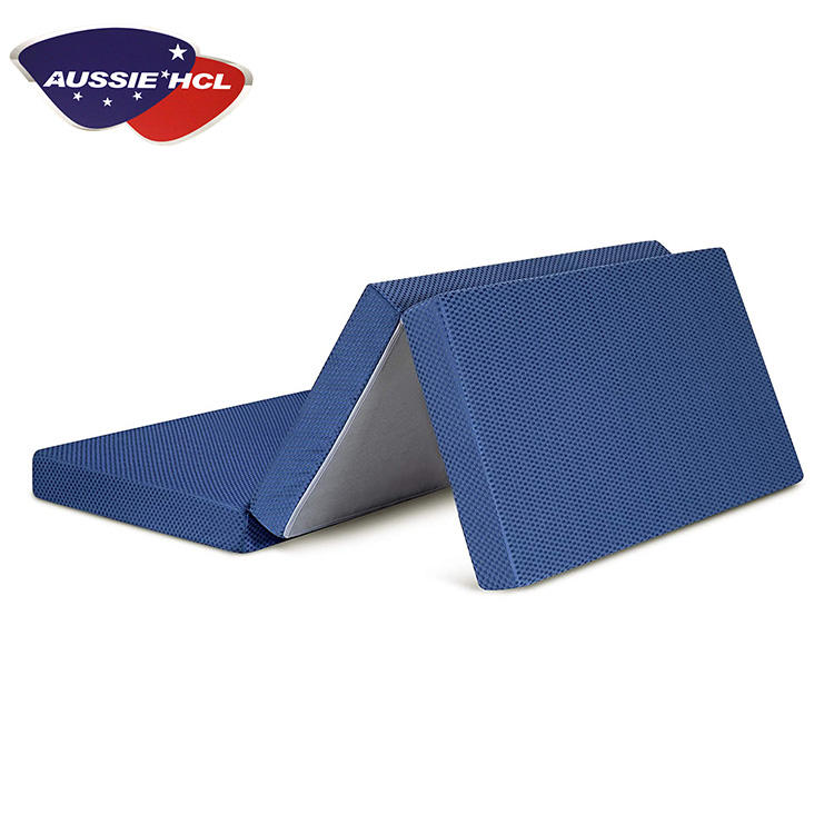 Customizes Easy Carry Travel Portable Foam Folding Floor Outdoor Memory Fabric Size mattresses