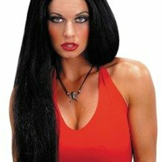 Black Wig 24 Inch Wicked Witch Straight Wig