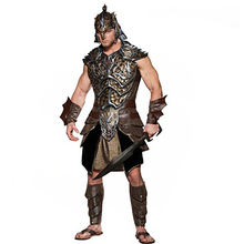 FAMOUS spartan fancy halloween costume adult man cosplay hero costume Roman gladiator costume
