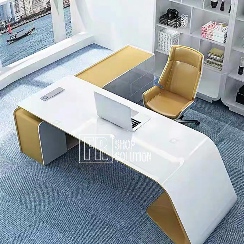 Modern Design High Tech Executive CEO Office Computer Desk Table for Boss Office