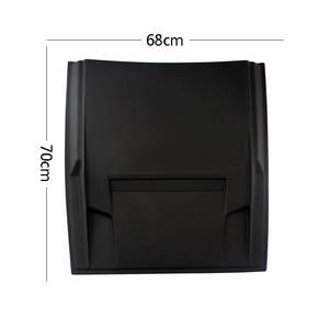 YCSUNZ ABS Plastic Bonnet Scoop Cover Small Black For Triton 2015 Pajero Car Accessories