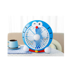 Blue Fat Cat Student Desktop Shift Cartoon Small Electric Fan