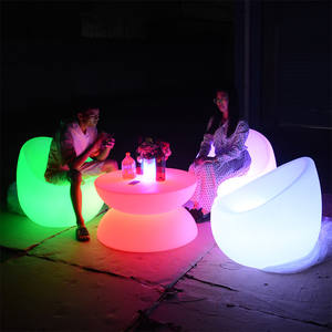 color changing waterproof led light up patio garden furniture chair table sofa sets for bar KTV nightclub event party
