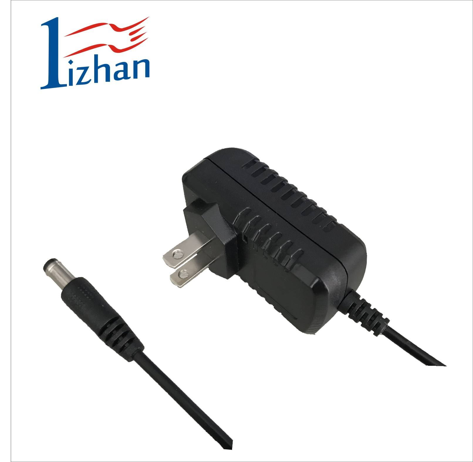 UL approved US plug 12v 1a ac power adapter 12w switch mode power supply for LED lighting