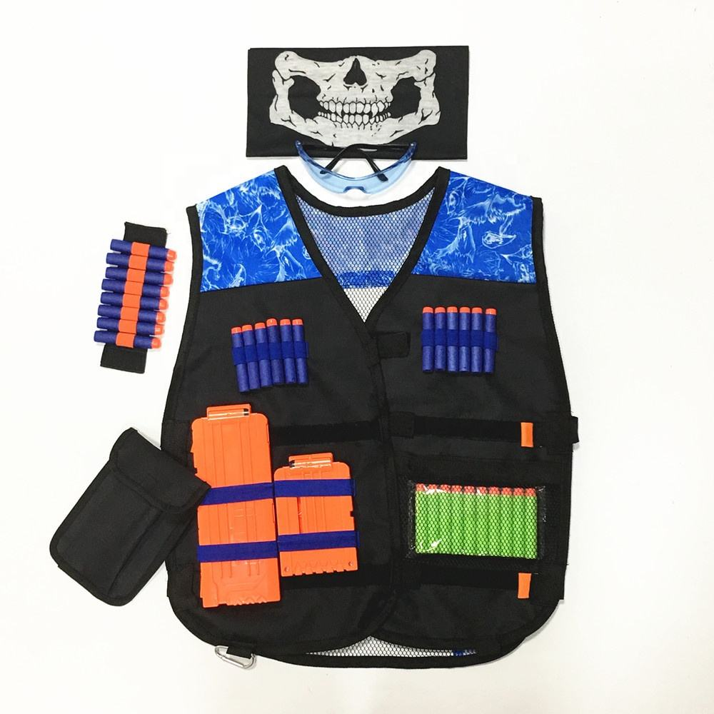 Adjustable nerf guns n-Strike elite series blasters Patriot VS Villain kids tactical vest toys