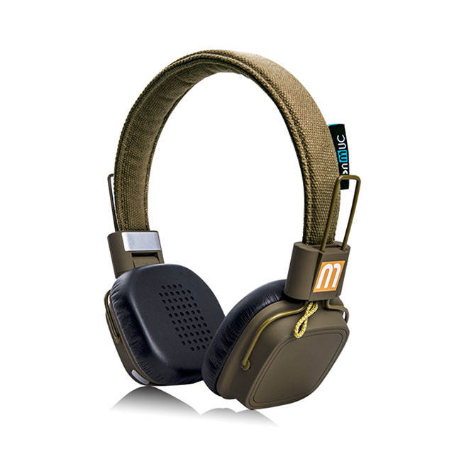 Women lovely bluetooth 5.0 headset with free samples canvas earmuffs friendly to both ears for long running bluetooth headphone