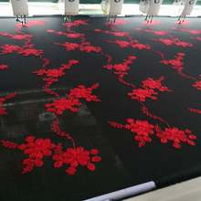 China Factory African 3D Embroidery Fabric India