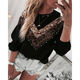 American hot sell Ladies Fashion Apparel Clothing Blouse Long Sleeve Leopard diamond color block Women Top