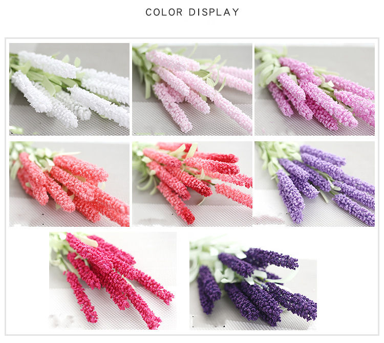 Decoration colorful flower wholesale wreath making supplies lavender wedding decoration