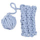 Charmkey loopy yarn chunky polyester knitting yarn very thick chenille yarn
