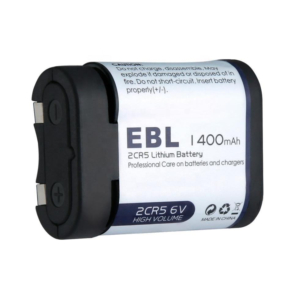 EBL 2CR5 6 Volt Lithium Photo Battery 1400 mAh with PTC Protection