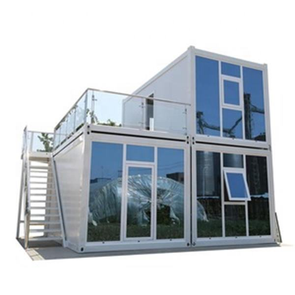 wood prefabricated floating complete container refab mansion flat roof small house plans equipment of cb
