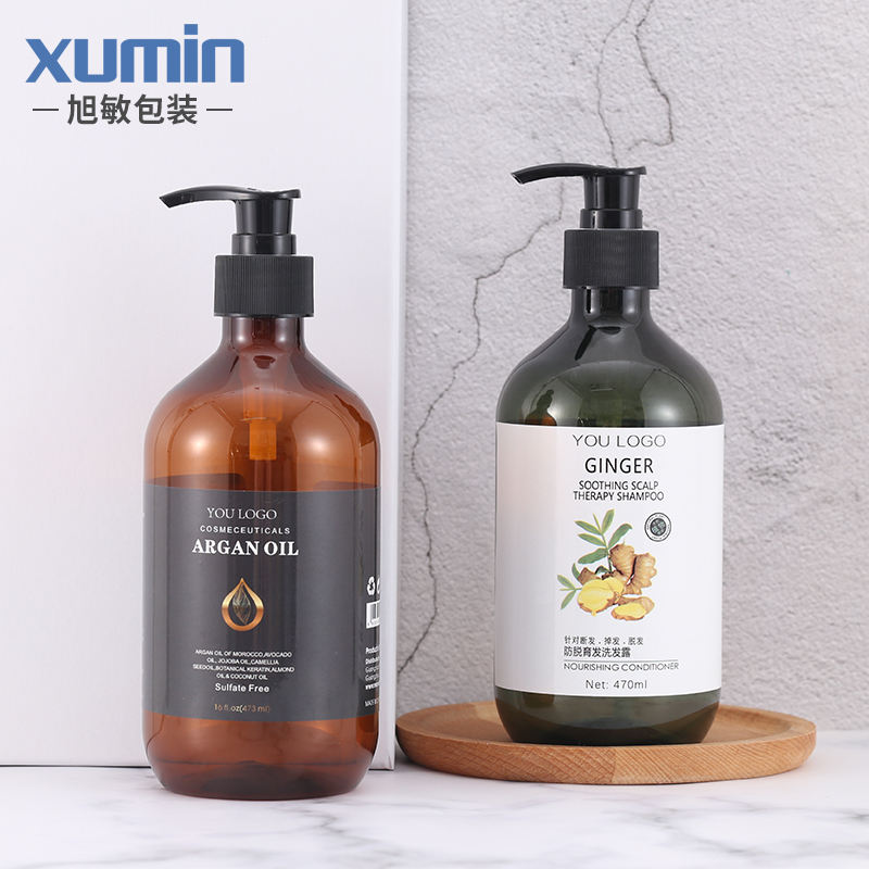wholesale shampoo bottle 300ml pet bottle 500ml plastic cosmetic pet bottle