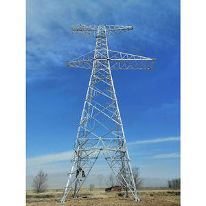 Transmission Line 100kv-300kv Power Transmission Line Tower Steel Lattice Tower Electric Transmission Tower
