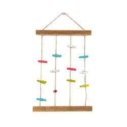 Home decoration colorful 12 clips wood wooden hanging photo