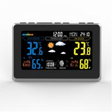 Digital alarm clocks RF Color Weather Station With Touch Screen, DCF Weather Station Clock