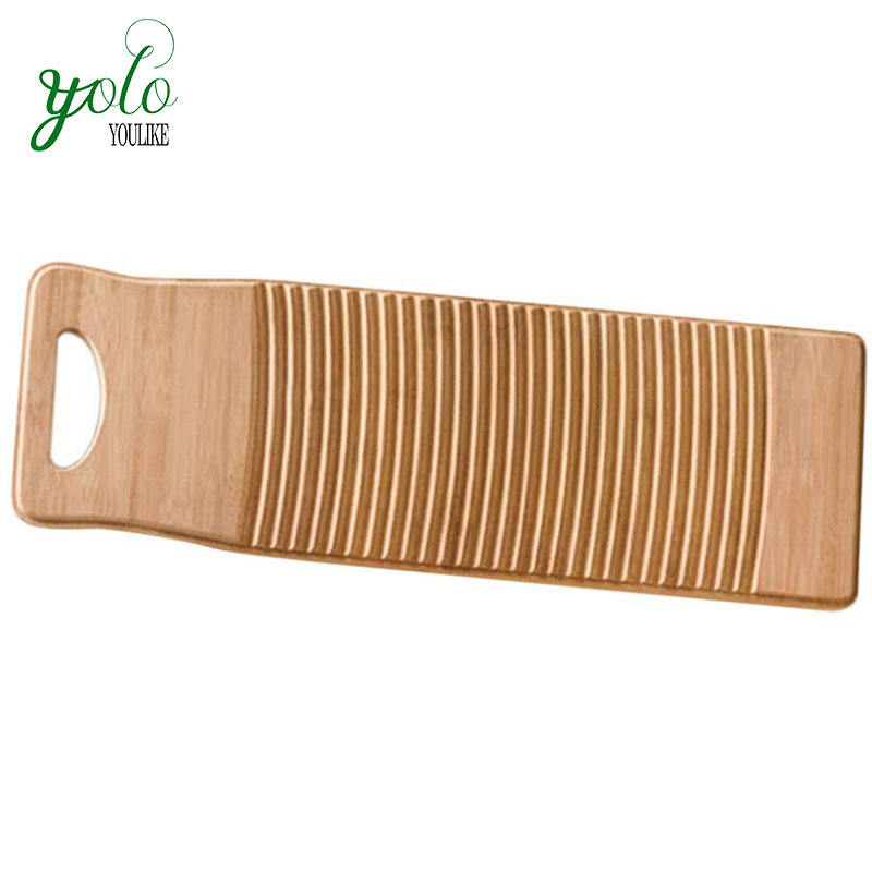Anti-slip Laundry Cleaning Bamboo Washboard For Home School