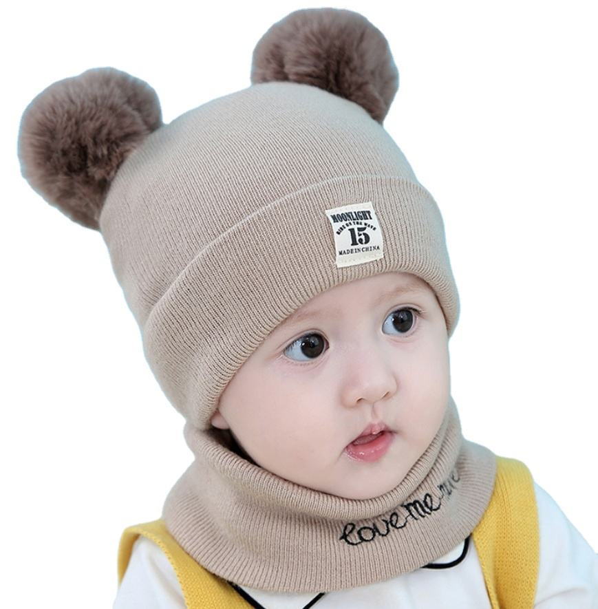 Wholesale Baby Toddler Boys Girls Winter Pom Pom Skull Cap Beanie Knit Hats
