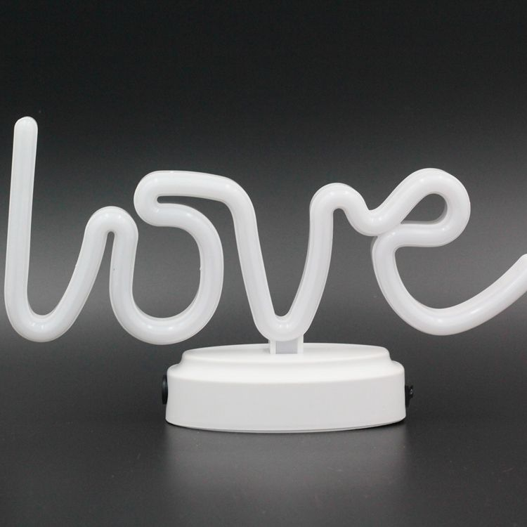 Love Shape Battery Operated Cute Led Night Table Neon for Home Wedding Christmas Decoration Home New Year Wedding