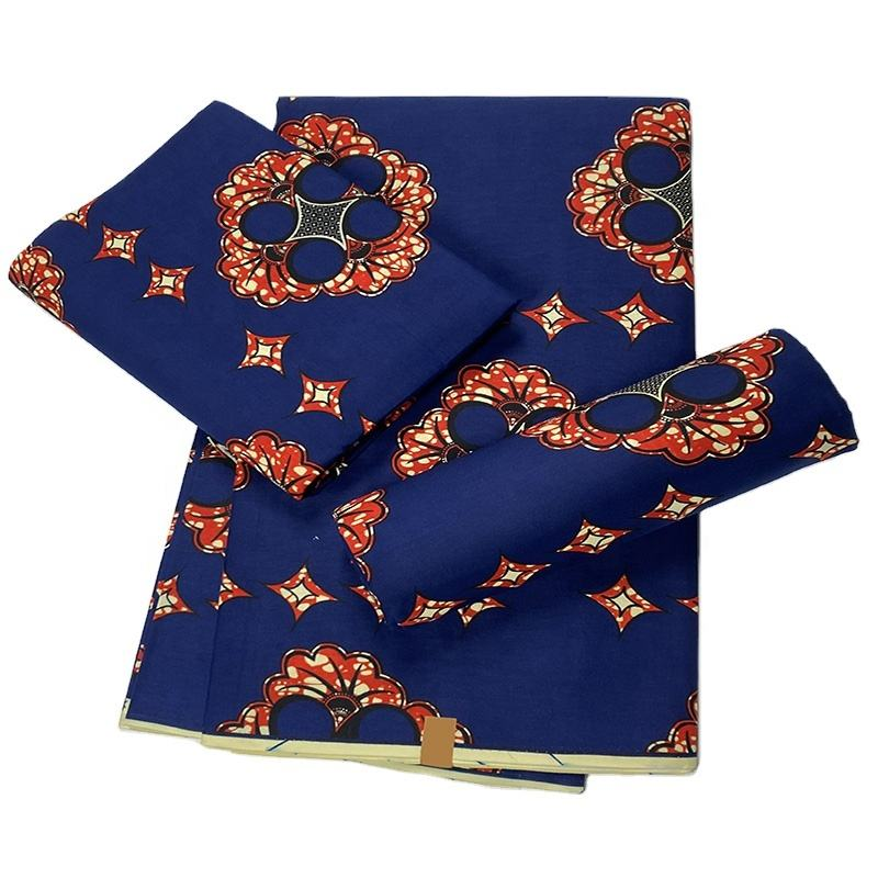 Factory Wholesale 100% Cotton Soft African Ankara Wax Print Fabric For Clothing Garment Dress Women