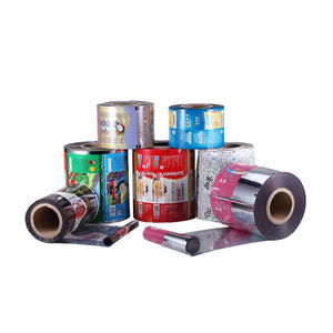 Protective PE color printing package lamination plastic Roll Film For Aluminium Soft Transparent Custom Oem