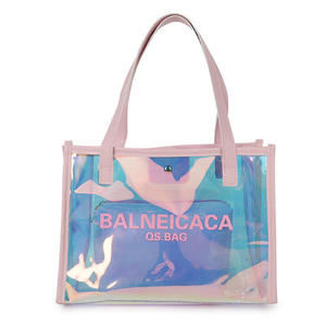 Trend Clear PVC Waterproof Jelly Tote Bag Laser Handbag for Women