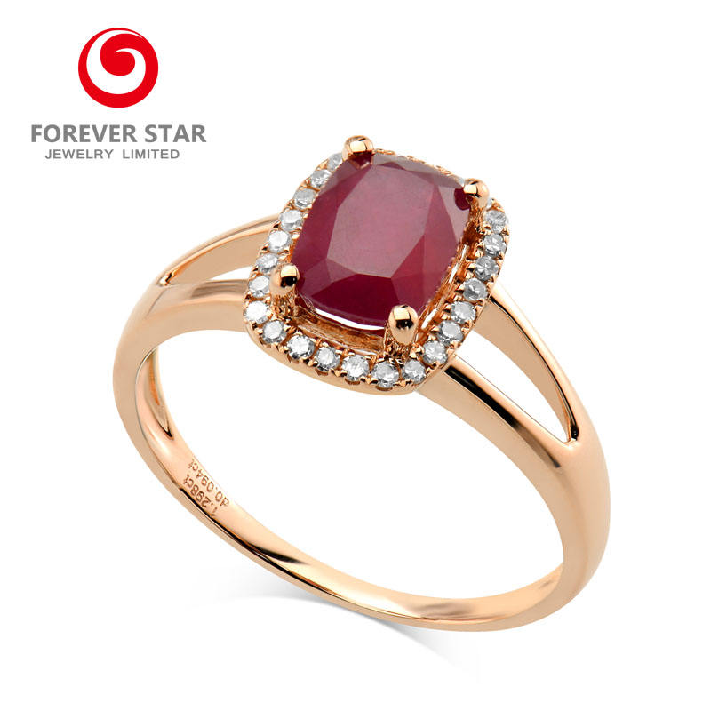 Rings Jewelry Women Product Natural Ruby 14 Carat Fine Gold Jewelry Wholesale