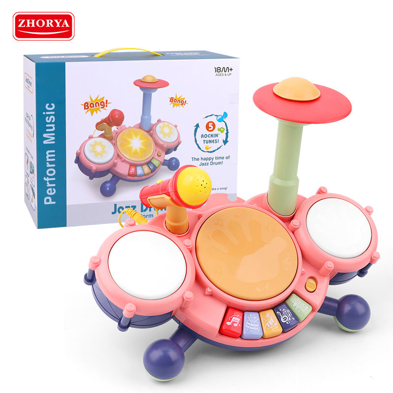 2020 Hot funny child kid drum early educational baby musical toy electronic organ keyboard piano musical instrument set sale