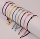 Friendship Peach Heart Wish Bracelet Braided Charm Rope Thin String Traditional Lucky Multicolor Bracelet