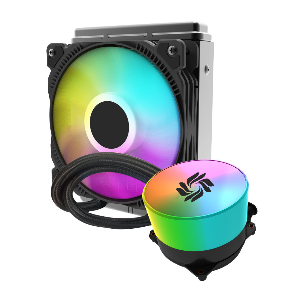 RGB fan and pc water cooling heatsink,copper base cooling faster with RGB pump head