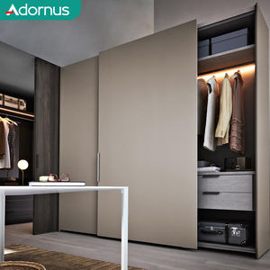 Adornus high quality large european style custom made slider glass door wardrobe india
