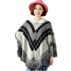 2018 autumn and winter new women's sweater women Korean fringed bat sleeves cloak sweater coat thick sets