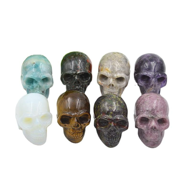 Wholesale 2'' variety gemstone natural quartz crystal skulls for healing decoration