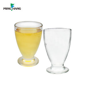 Wholesale lead free clear glass cups elegant for drinking mixed juice tea coffee beer wine