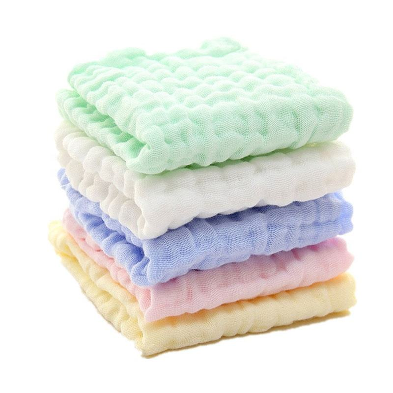 100% cotton 6 layers muslin soft touch Newborn muslin cloth facial baby muslin washcloths and Towels