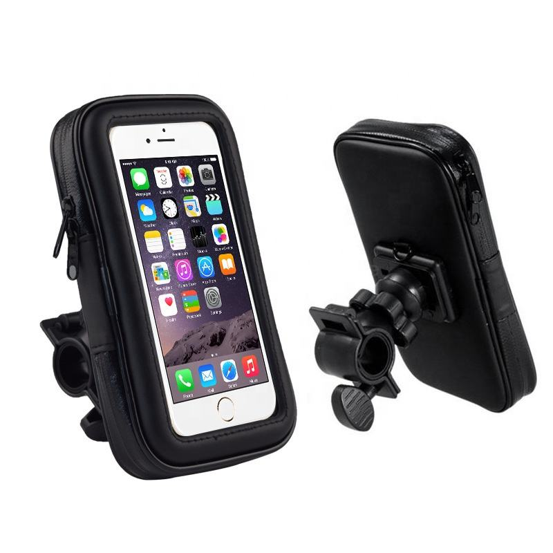 Hot sell mobile phone touch screen waterproof bicycle or bag multifunctional phone holder holder