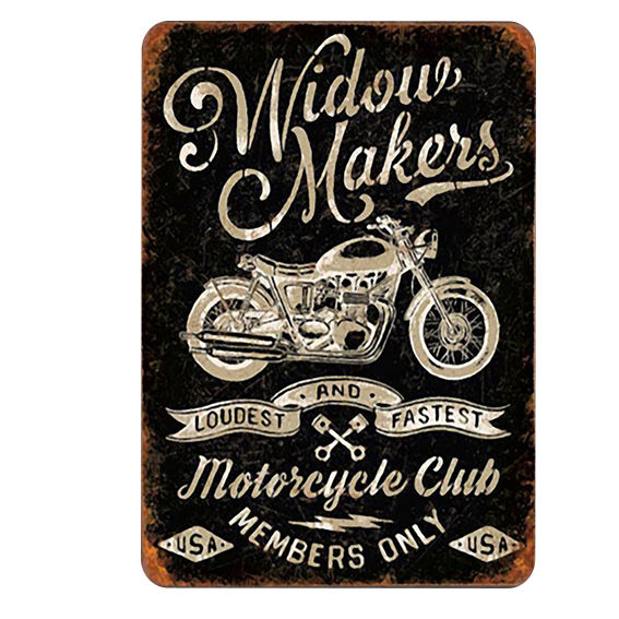 automotive metal craft harley davidson motorcycle sports club decorations souvenir plate 20cm metal signs