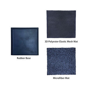 Rubber tray foot bath disinfection custom door mat
