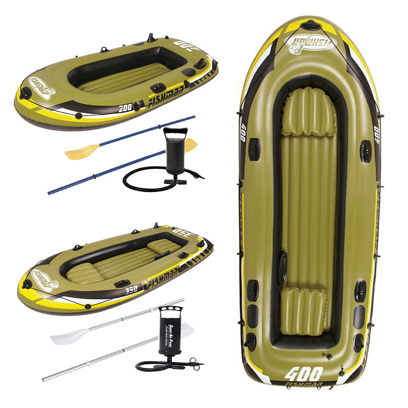 FISHMAN 200 Boat Set Inflatable fish boat sets with pump and paddle portable leisure sport water deflate inflate PVC boat