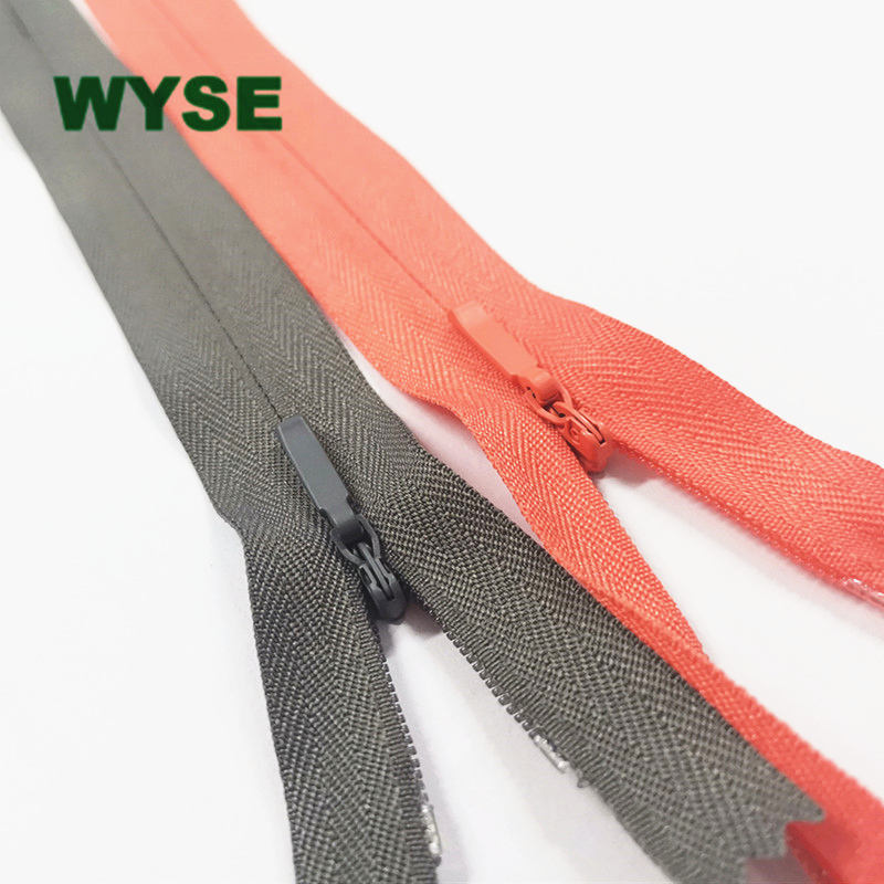 #3 closed end nylon invisible zipper with metal slider wholesale zipper bulk cheap