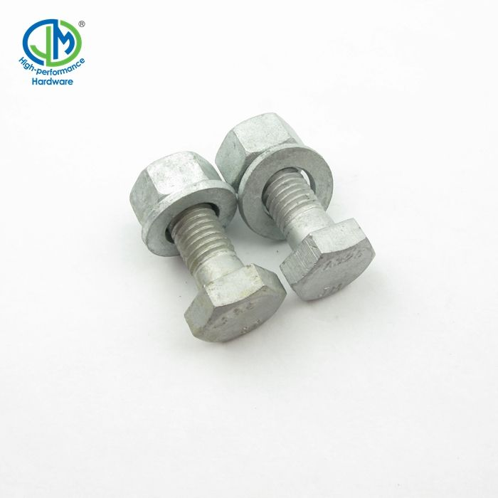 High Strength Hot Dip Galvanized Hex Bolt And Nut Manufacturer