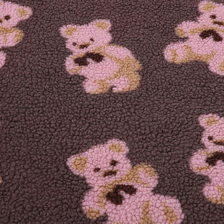 cute and fashion fur teddy bear faux rabbit fur flannel fabric for pajamas