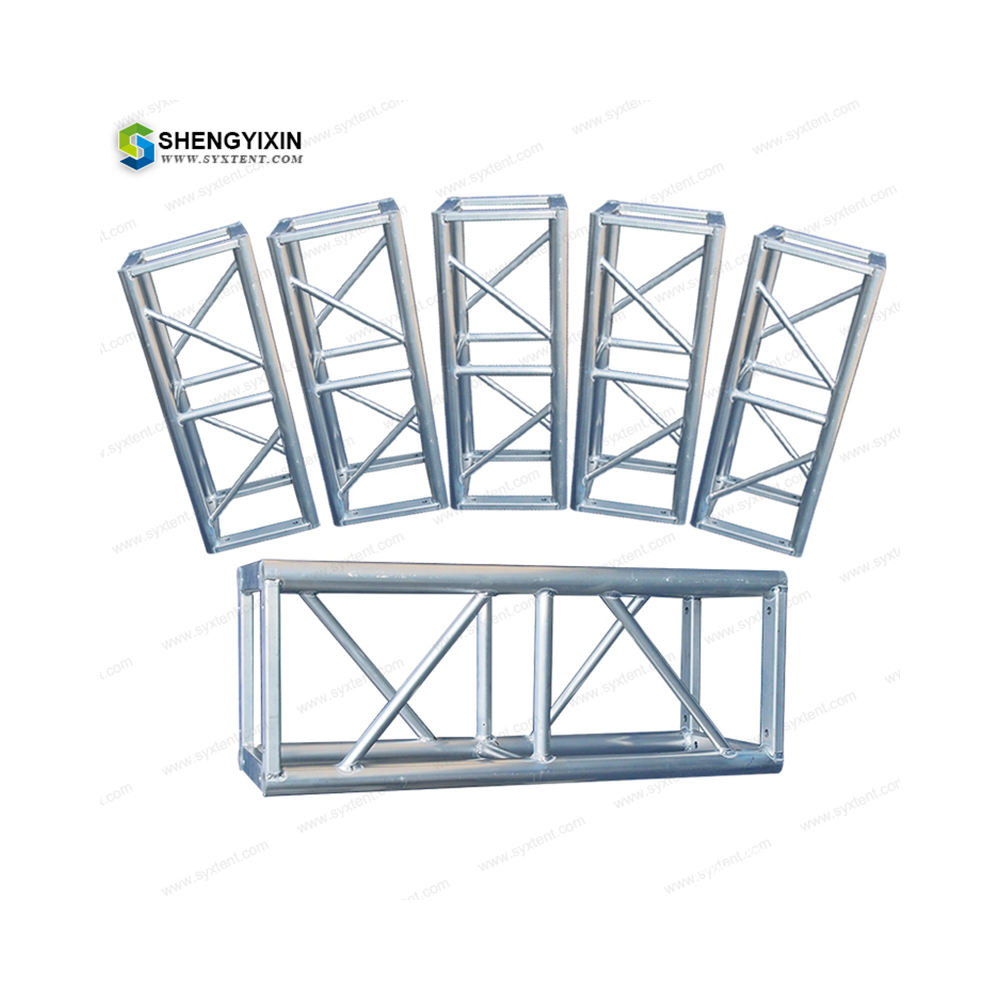 import stge aluminium structural telescopic lift tower tech team truss for france