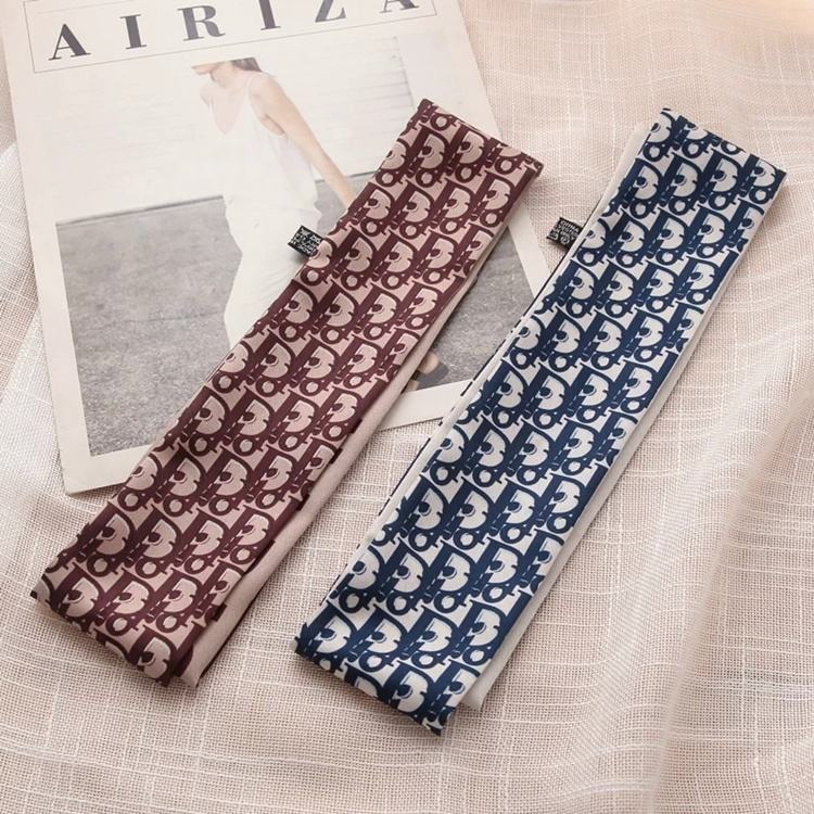 New arrival handle bag long hair tie headband neck polyester twill ribbon decorative scarf