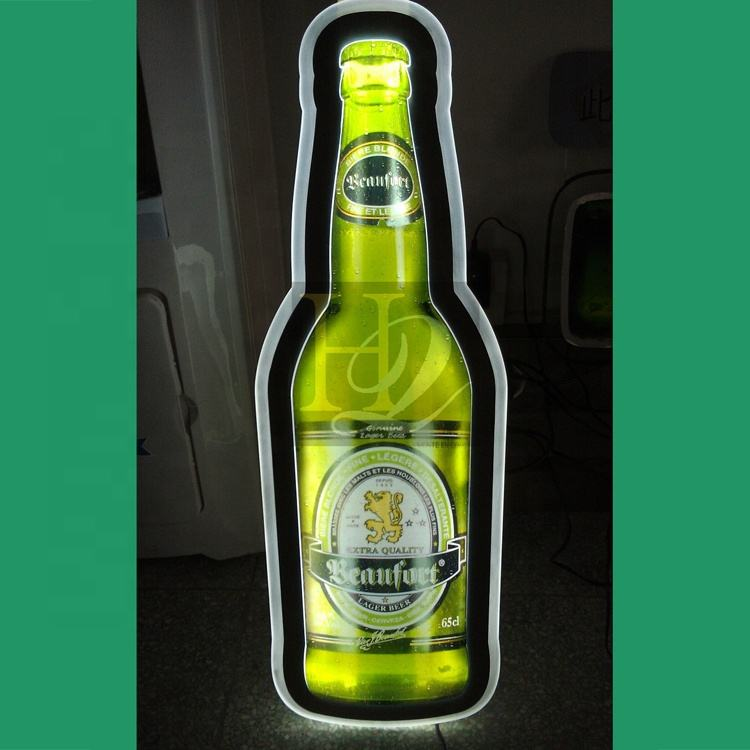 Top qualität acryl flasche form hight helle led licht box