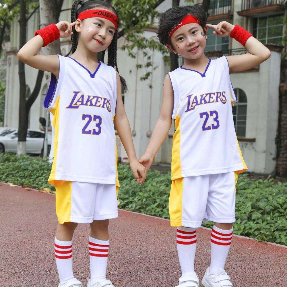manufacturers wholesale V type nba jersey basketball uniforms Lakers No. 23 children's custom basketball jerseys