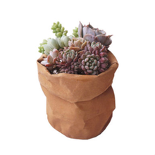 Kraft Paper Material Garden washable Kraft paper pot bags waterproof kraft paper desktop flower Planter pot