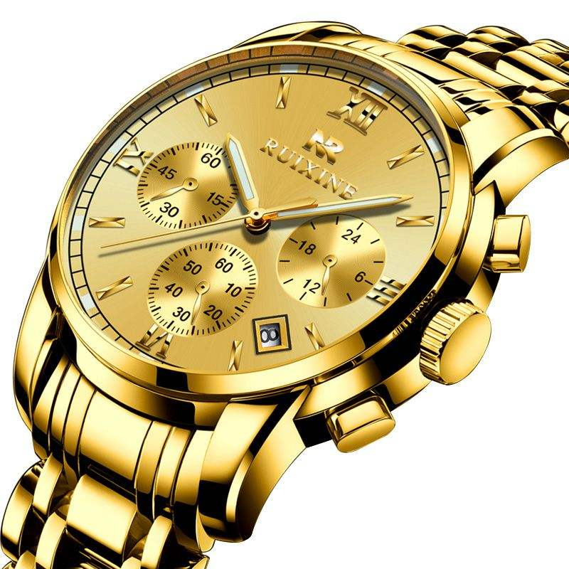 2019 top brand luxury saatler wristwatches in india wrist watch 18k gold steel watch chain watches for man